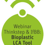 "Webinarlogo ""Biomaterials in focus"": Introducing Bioplastic LCA Tool (Englisch). Quelle: IfBB"